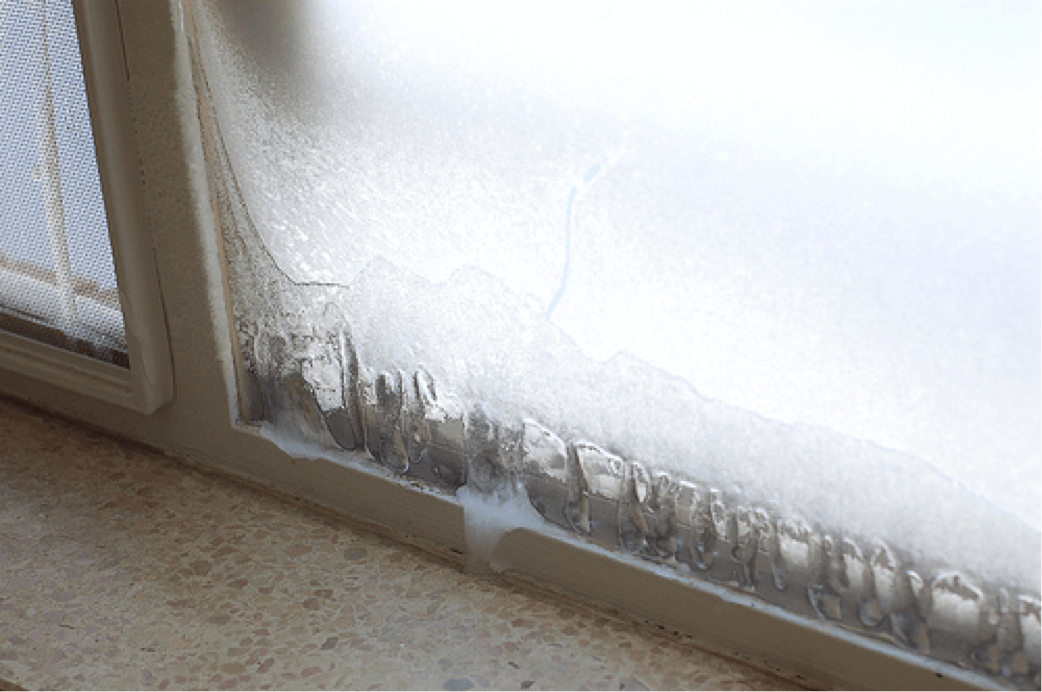 Ice Inside Of Windows
