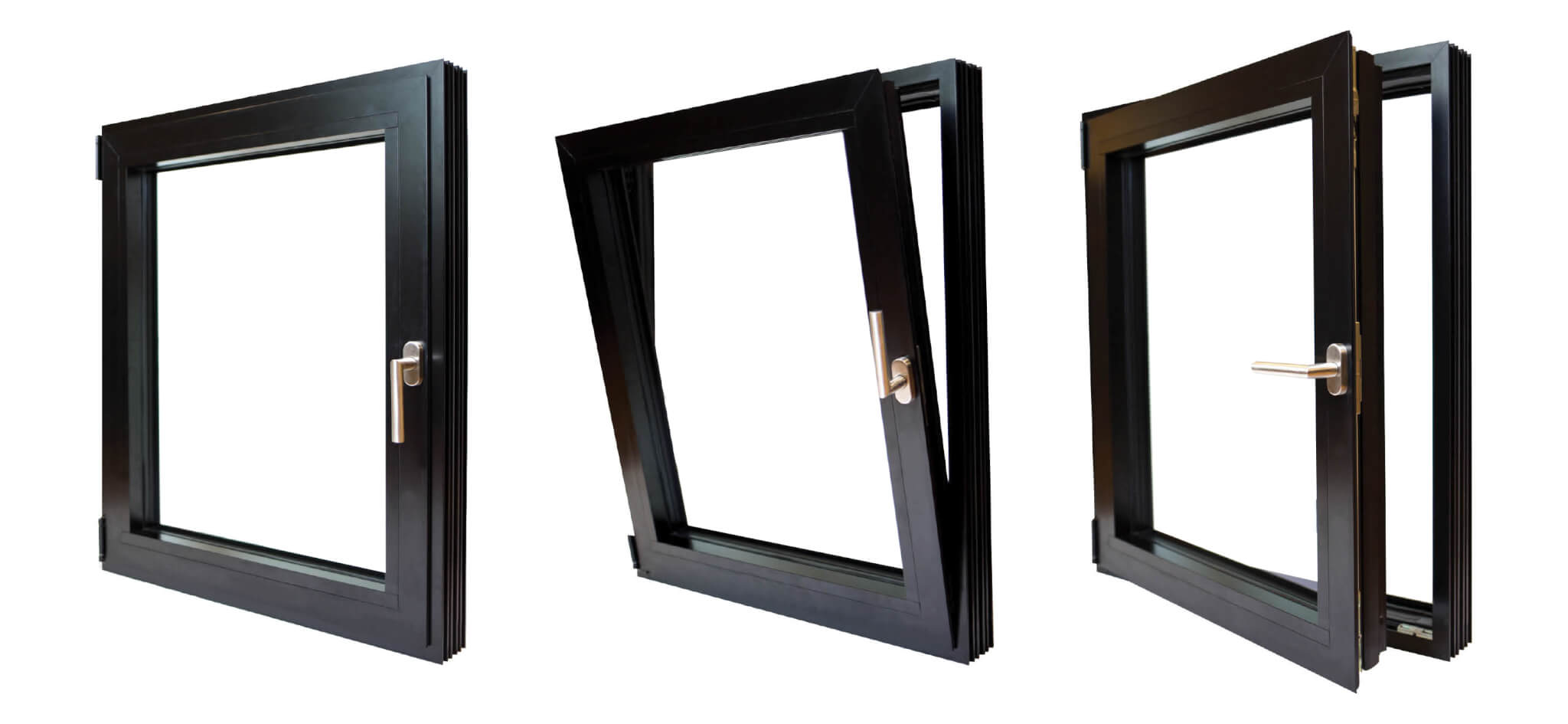 Aluminum Double Pane + Triple Pane European Windows
